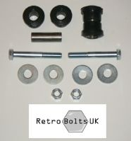 Inner Track Control Arm (TCA) Black Poly Bushes + BOLTS - Mk2 Escort